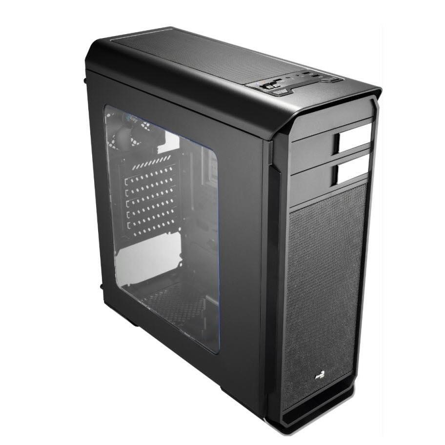 Aerocool Aero-500 Mid Tower Black w/ windows w/o PS