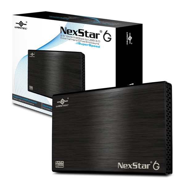 "Vantec 2.5"" NexStar 6G SATA3 to USB3 BK AL Enclosure NST-266S3-B - Click Image to Close"