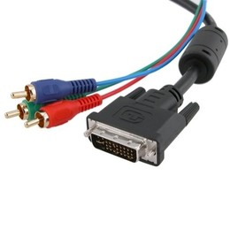 Generic 5M DVI-I Dual Link Male To 3-RGB Cable