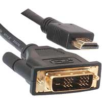 Generic HDMI / DVI-D Single Link 25' Cable 24AWG CL2