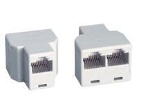 Generic 3 Female Jack T (8P8C) Adaptor