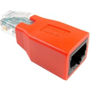 Generic Network RJ45 Cat5 Crossover Male to Female Adapter