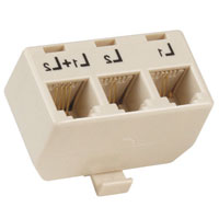 Generic 3 Female Jack T Adaptor