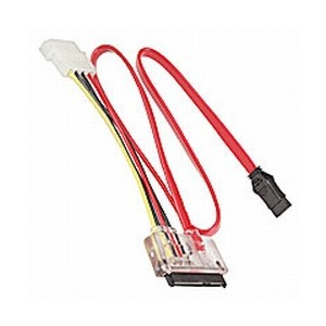 Generic 2 SATA Data & Power Cable with Red Light
