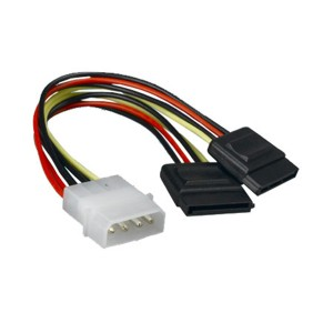 Generic Power 4 Pins to 2 x SATA Power Adapter