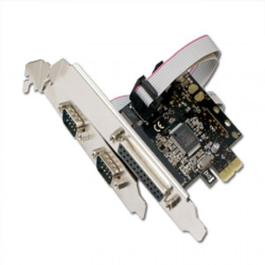 SYBA 2-Serial/ 1-Parallel PCIe Combo Card SD-PEX50030