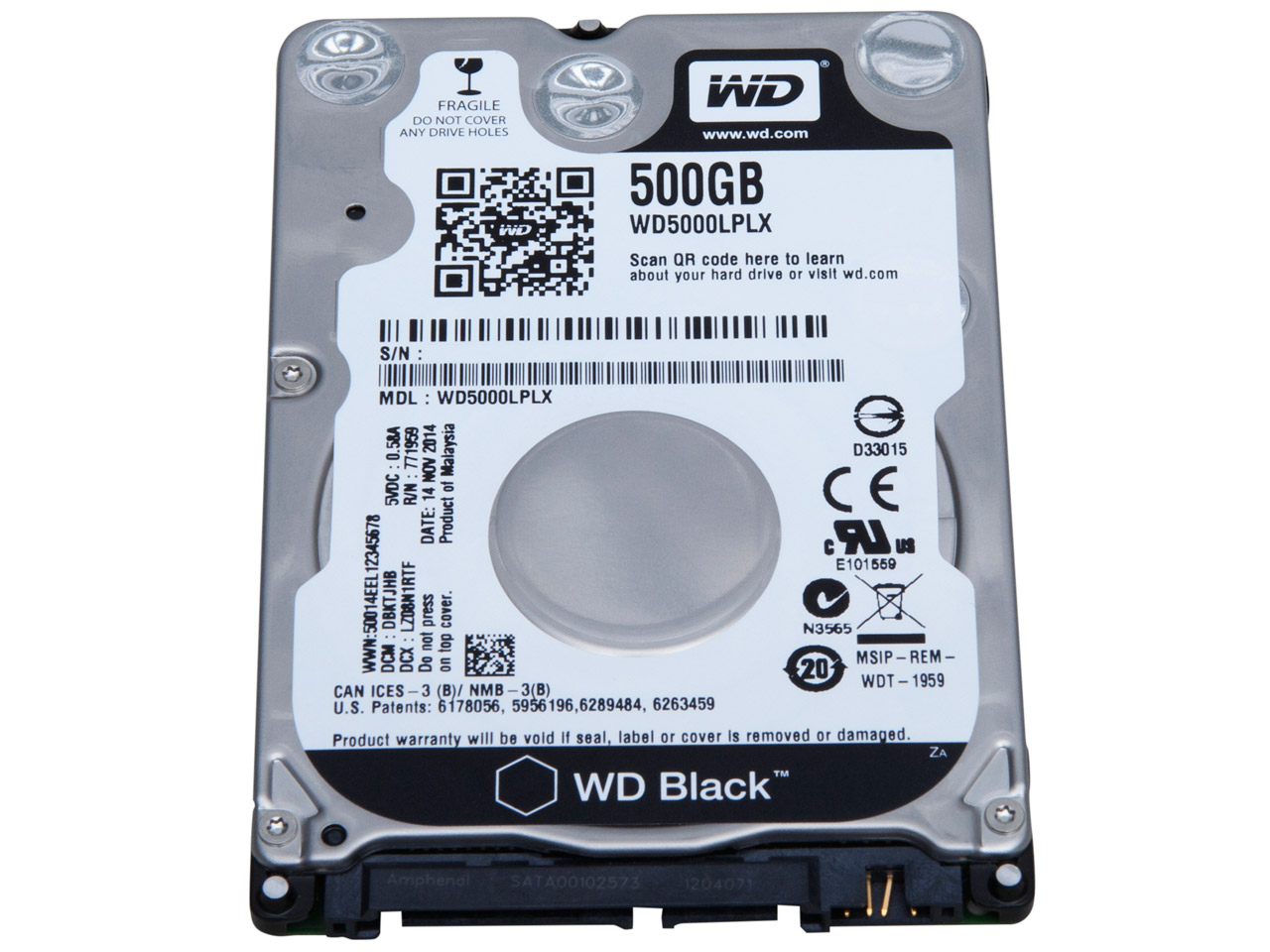 "WD 500GB 7200 32MB BLACK 2.5"" SATA 6Gb/s WD5000LPLX"