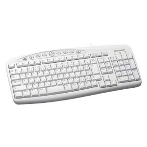 Microsoft Wired Spillproof PS2 Keyboard 500 White ZG6-00036