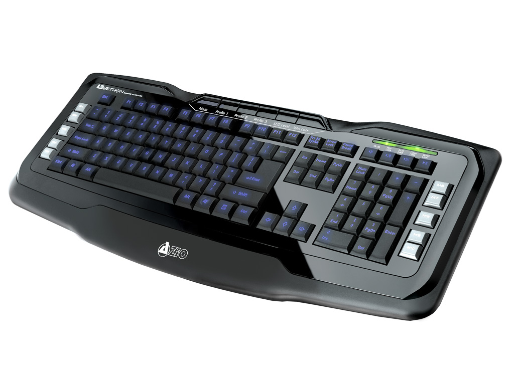 Azio Levetron USB Backlit Gaming Keyboard KB555U