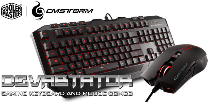 Cooler Master Devastator Gaming Gear Combo RED LED