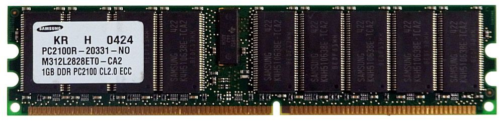 USED Samsung 1GB DDR266 PC-2100 ECC Memory M312L2828ETO (All sal