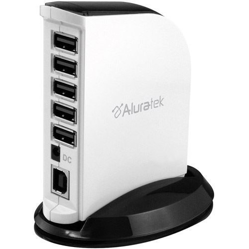 Aluratek 7-Port USB 2.0 Hub AUH1207F