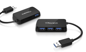 Aluratek 4-Port USB 3.0 Hub AUH2304F
