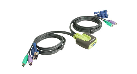 IOGear 2Port PS/2 KVM Switch GCS62
