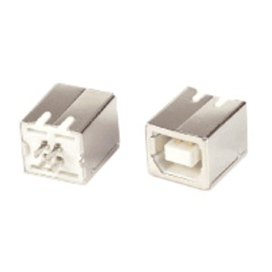 Generic USB B Female solder type connector 3u GOLD