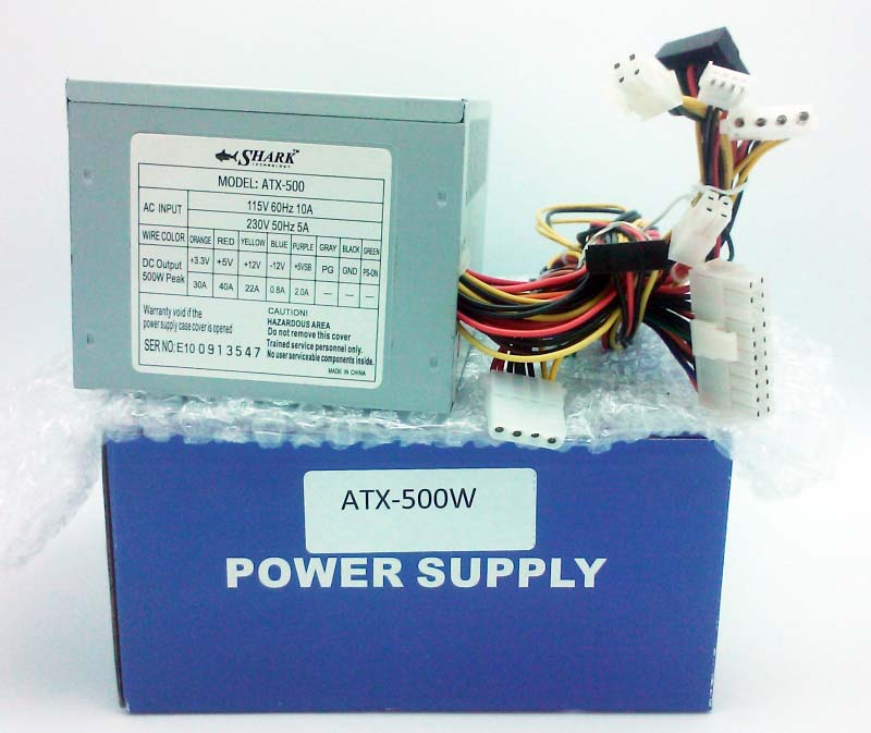 Shark Tech 500W 1/2 size Power Supply ATX-500