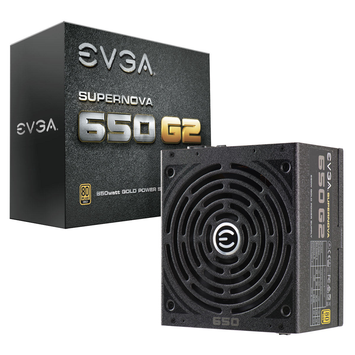 650W ATX eVGA 650 80+ GOLD Power Supply 220-G2-0650-Y1