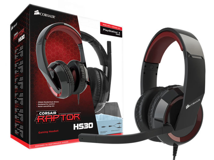Corsair Raptor HS30 Analog Gaming Headset CA-9011121-NA-Y