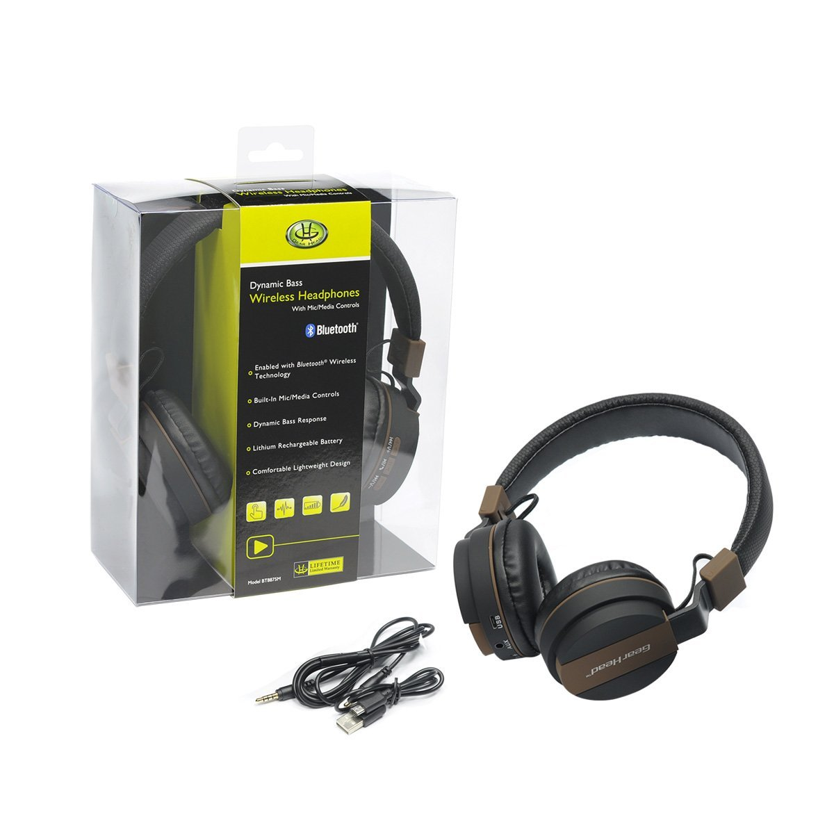 GearHead Bluetooth Headphone w/ Mic